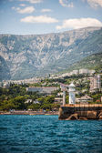 Lighthouse on seafront of Yalta, Crimea  — Stock Photo