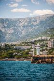 Lighthouse on seafront of Yalta, Crimea  — Stock Photo