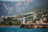Lighthouse on embankment of Yalta, Crimea  — 图库照片