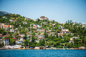 Gurzuf sea embankment, Crimea — Stock Photo