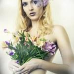 Fashion portrait of beautiful woman. Fairy — Stock Photo #5371469