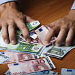 Male hands holding money — Stock Photo #8830834