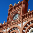 Detail of Roof on train station in Aranjuez, Spain - Stock Photo