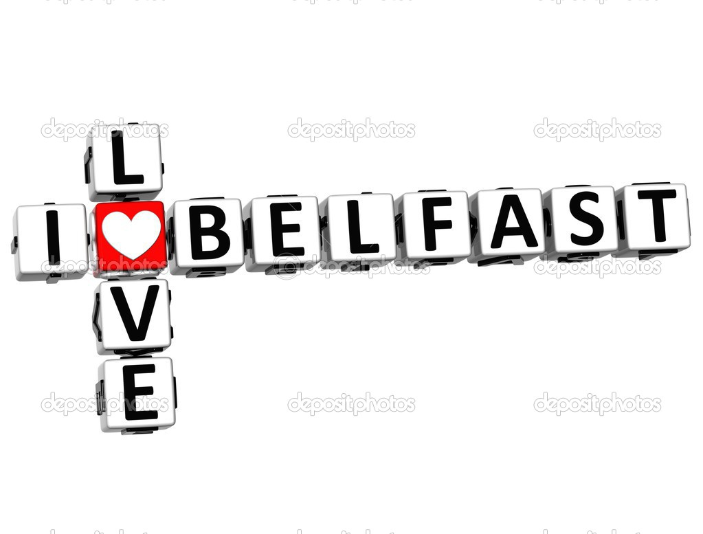 3D I Love Belfast Crossword on white background — Stock Photo #12431749