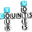 3D Counts Your Votes Crossword — Stock Photo #12664399