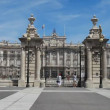 Royal Palace at Madrid Spain — Stockvideo #12940439