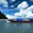 Blue sky and clouds in Havelock island. Andaman islands, India — Stock Photo