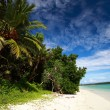 Stock Photo: Havelock Island blue sky with white clouds, AndamIslands, India