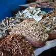 Dried fish, seafood product at market from India - Stockfoto