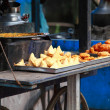 Traditional India food on the street. — Stock Photo