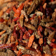 Closeup of red dried chilli background — Stock Photo #15878079