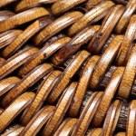 Detail of interlaced rattan fibers in macro — Stock Photo #16225489