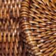 Stock Photo: Detail of interlaced rattfibers in macro