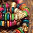 Close up view of colorful india bracelet. — Foto Stock