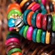 Close up view of colorful india bracelet. — Stock Photo
