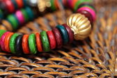 Close up view of colorful india bracelet. — Stockfoto
