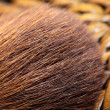 Macro of make-up brush - Stock Photo