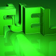 3D Word Fuel on green background — Stock Photo