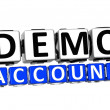 3D Demo Account Button Click Here Block Text - 