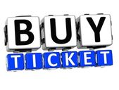 3D Buy Ticket Button Click Here Block Text — Stock Photo