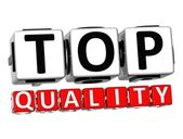 3D Top Quality Button Click Here Block Text — Stock Photo
