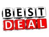 3D Best Deal Button Click Here Block Text — Stock Photo