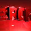 3D Word Error on red background — Stock Photo #18053113