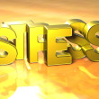 3D Word Stress on yellow background — Stock Photo