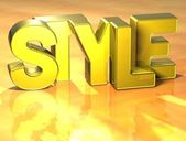 3D Word Style on yellow background — Stock Photo