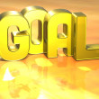 3D Word Goal on yellow background — Stock Photo