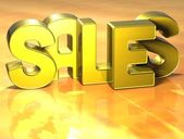 3D Word Sales on yellow background — Stock Photo