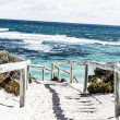 Scenic view over one of the beaches of Rottnest island — Stock Photo #18301273