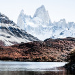 Beautiful nature landscape with Mt. Fitz Roy as seen in Los Glaciares National Park, Patagonia, Argentina — Stock Photo