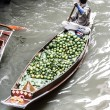 Local sell food items at Damnoen Saduak floating market - Stock Photo