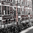 Typical Amsterdam architecture with bikes — Stock Photo #18485161