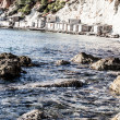 Foto Stock: Beautiful small bay in IbizSpain