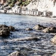 Beautiful small bay in IbizSpain — Stok Fotoğraf #18485283