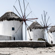 Stock Photo: Windmills of Mykonos (Greece, Cyclades)