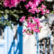 A typical narrow alley in the town of Mykonos, Greece — Stock Photo