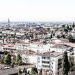 Bergamo, Citta Alta, Lombardy, Italy, from via San Vigilio on a sunny spring afternoon.Bergamo, Citta Alta, Lombardy, Italy, from via San Vigilio on a sunny spring afternoon. — Stock Photo