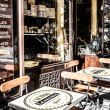 Parisian bistro at the start of the day — Stock Photo