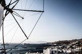 Windmills of Mykonos (Greece, Cyclades) — Stock Photo