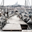 Picturesque colorful yacht port in old center of Marseilles, France — Stock Photo #18523877