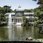 Madrid Palacio de Cristal in Retiro Park glass crystal palace Spain — Stock Photo #18746337