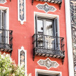 Mediterranean architecture in Spain. Old apartment building in Madrid. — ストック写真