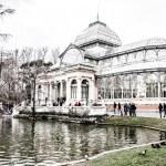 Madrid Palacio de Cristal in Retiro Park glass crystal palace Spain — Stock Photo #18747515