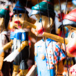 Traditional puppets made of wood. - Stock Photo