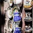 Stock Photo: Classical Turkish ceramics on the market