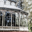 Madrid Palacio de Cristal in Retiro Park glass crystal palace Spain — Stock Photo