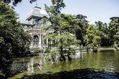 Madrid Palacio de Cristal in Retiro Park glass crystal palace Spain — Stock Photo